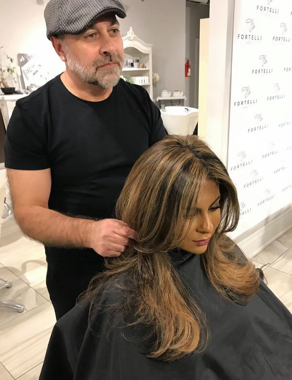 brunette highlights fortelli salon spa oakville ON