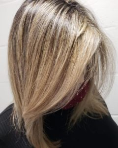 dimensional blonde with layers Fortelli Salon Oakville