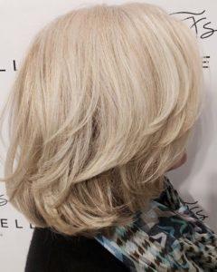 short blonde hairstyles fortelli salon spa oakville ON