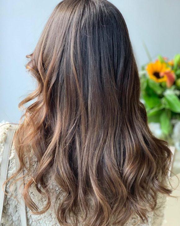 balayage hair colour fortelli oakville ontario