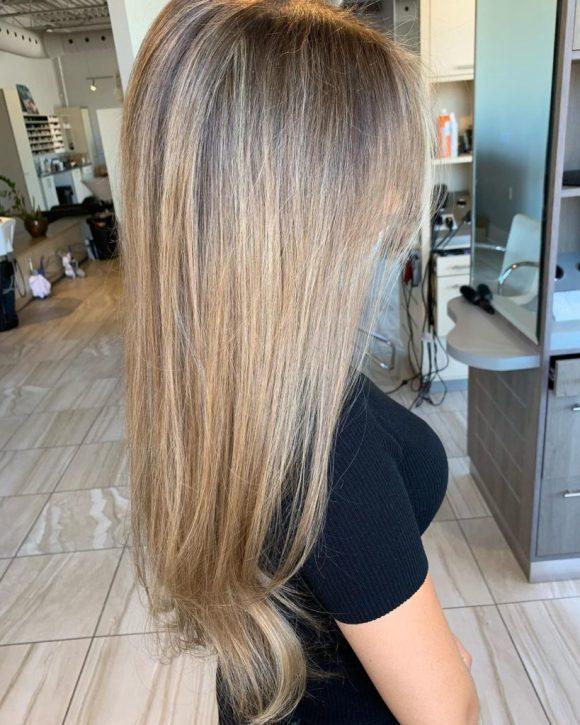 shadow root blonde highlights fortelli oakville ontario