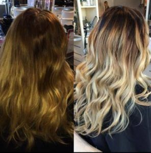 color correction to blonde sombre Oakville ON