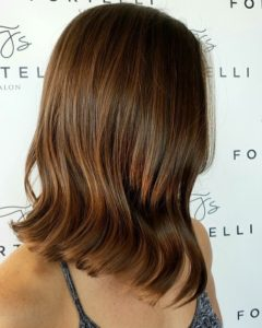 long bob haircut fortelli salon oakville ontario
