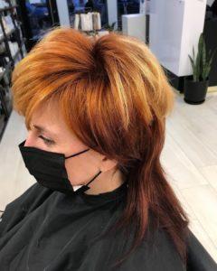 mullet haircut by Renato at Fortelli salon oakville