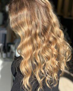 strawberry blonde hair with highlights fortelli salon oakville ontario