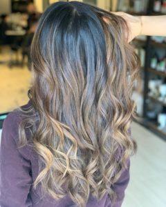 brunette balayage hair salon downtown oakville ontario