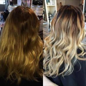 blonde-ombre-sombre hair colour Oakville Ontario
