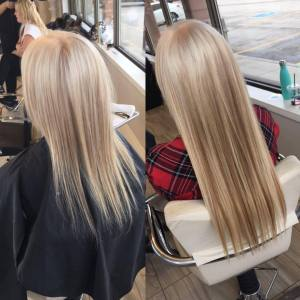 before-after-so-cap-hair-extensions-fortelli-salon-spa-oakville-ON