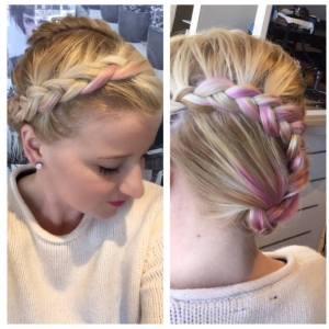 pink-spring-braid-fortelli-salon-spa-oakville-ON